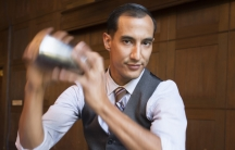 Tony Gurdian, at Imperial in Portland, Oregon, uses his homemade switchel to make a drink called The Haymaker's Revival.