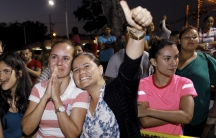 Cuban migrants say goodbye to their fellow compatriots in Costa Rica as they head to the airport for the first leg of their journey: a flight to El Salvador. Then they'll take a bus to the Guatemala-Mexico border and make their way to the US border.