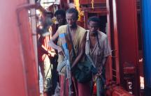 "Barkhad Abdi, a first-time actor who plays the lead pirate in ""Captain Phillips."""