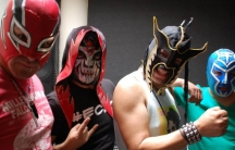 The band El Conjunto Nueva Ola performs in Mexican wrestler masks.  In fact, they wore their masks the whole time Betto Arcos talked to them for this story. He never saw their faces.