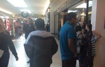 Reporter Deepak Singh (in blue shirt) shopping on Black Friday 2013.