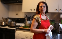 Despina Economou, the Greek cooking instructor for League of Kitchens' cooking school.