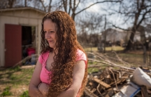 Cherise Greer in the backyard of her home in Duncan, Oklahoma.