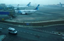 EgyptAir planes are seen parked at Cairo Airport, Egypt on Oct. 30.