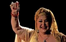 Esma Redžepova, queen of gypsy music.