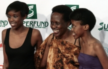 Esther Mujawayo and her daughters Amelia and Amanda.