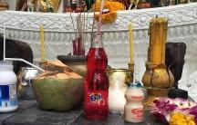 Thai spirit house strawberry fanta