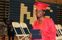 Fatuma Ibrahim at her high school graduation in August 2015