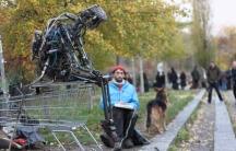 Berlin artist Kolja Kugler and his animatronic puppet Sir Elton Junk.