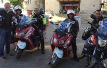 A member of United Rescue and Jersey City Medical Center, Paul Sosman, in Israel learning from members of United Hatzalah.