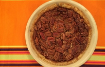 Steven made this pecan pie for Thanksgiving.