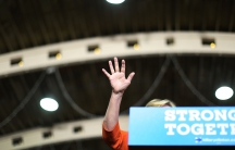 Democratic presidential nominee Hillary Clinton speaks during a campaign rally at the Coliseum on August 8, 2016 in St. Petersburg, Florida. A new national poll shows Clinton's lead expanding over Republican rival Donald Trump.
