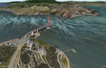 A Google Maps image of the Golden Gate Bridge in San Franciso.