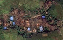 Rohingya villages burned