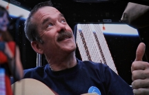 Chris Hadfield playing in space.