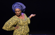 Taiwo Ajai-Lycette in HEAR WORD!  Naija Woman Talk True, a play that challenges some of the central tenants of the #MeToo movement.