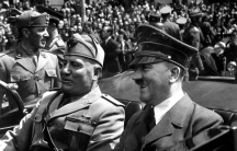 Benito Mussolini and Adolf Hitler in Munich, Germany.
