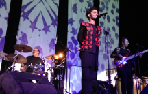 Iranian folk-rock band Damahi performs in the country with approval from the government.