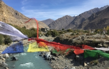 Trekking the Annapurna route near Jomsom. Trekkers are critical to Nepal's tourism industry, but the travel warnings boost the cost of travel insurance for them.