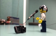 Andrew Whyte's minifigure photographer makes his debut on US public radio