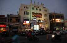 This is Sahu Cinema Hall, in the center of my hometown, Lucknow, India. I watched hundreds of movies there when I was kid, and it brings back lots of memories for me.