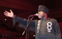 Papa Wemba on stage in Copenhagen, 2010.