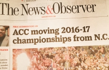 An HB2 headline in the Raleigh News and Observer.