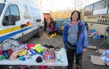 """British volunteer Tally Oliver took a leave from her job in the UK and loaded her car with provisions to help migrant families in the camp at Grande-Synthe. """"It's a humanitarian crisis that we all have to take responsibility for."""""""