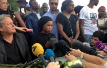 Assa Traoré and the family's lawyer Frédéric Zajac, spoke to the press and supporters three days after the death of her brother, Adama Traoré, in police custody.
