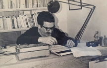 "Gabriel García Márquez working on ""One Hundred Years of Solitude."""