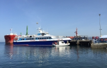 The first of three ships carrying deportees from Greece arrived in the Turkish port town of Dikili on Monday, April 4, 2016.