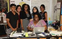 Eighth grade teachers and students at the Putnam Avenue Upper School in Cambridge, Massachusetts