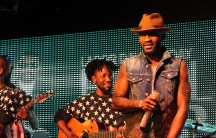Fally Ipupa is shown live in New York on Labor Day 2015.