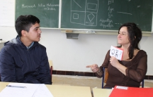 Maisam Hosseini and his teacher