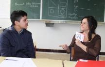 Maisam Hosseini and his teacher