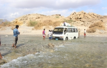 Near Al Mukalla, Yemen, where people were isolated by heavy flooding from Cyclone Chapala