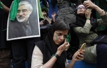 Mirhossein Mousavi supporters in green