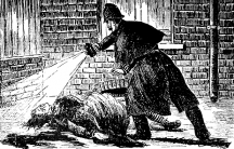 Jack the Ripper's victim from The Illustrated Police News (circa 1888)
