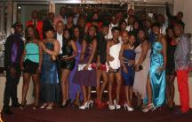 Seniors pose at the COSAT prom