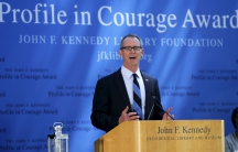 Former U.S. Representative Bob Inglis was awarded the 2015 John F. Kennedy Profile in Courage Award for changing his position on climate change at big political cost.