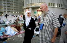 Tala Khudairi and Jack Lindsay are two of the pilgrims who appear in a new PBS documentary about the Hajj.