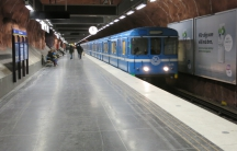 Stockholm's highly-efficient subway system. Trains are known for running frequently and on time. They have large ridership but are not overly crowded because of the frequency of the trains.