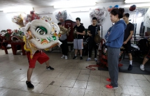 Kelly Wong is one of the lion dance instructors at the New York Chinese Freemasons Athletic Club. Originally founded as a fraternal society, the Freemasons were among the first troupes in Chinatown to train women to lion dance.