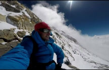 Kilian Jornet climbing Mount Everest