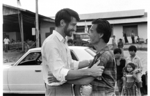 Still from Killing Fields showing actors Sam Waterston and Haing Ngor