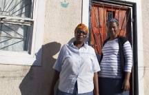 Nora Suselo (R) and her mother Gladys, domestic workers in Cape Town, South Africa.