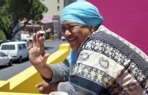 Janap Masoet outside her sister Niesa Bosch's house in Cape Town's Bo-Kaap neighborhood.