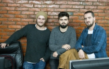"""The team behind """"Kosovo if Trump Wins"""" (from left) Fitim Krasniqi, Argjend Haxhiu and Kushtrim Krasniqi. All three are devout Muslims. They are also pro-American like most people in Kosovo."""