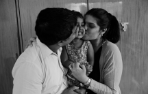 Ayesha and Marco D'Souza with their daughter Tenaya