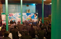Mostafa Kavakebian speaks at a reformist gathering in Tehran.